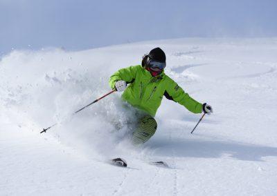 skier at sahoro